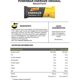 PowerBar Energize Original Riegel Box Banana Punch 25 x 55g